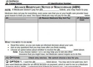 Medicare ABN Advanced Beneficiary Notice CMS-R131