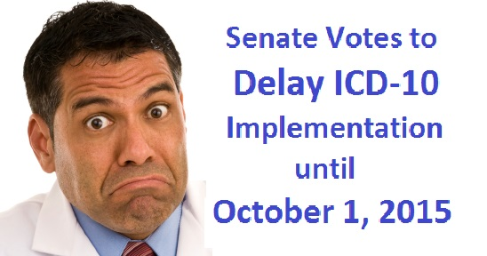 Senate Votes to Delay ICD-10 to October 1,2015