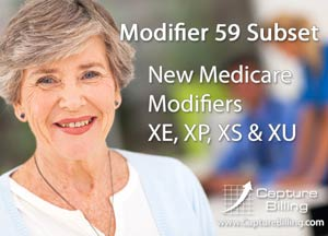 New Medicare 59 Modifiers – XE, XP, XS, XU