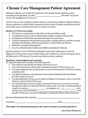 Chronic Care Management Patient Agreement