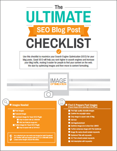 Ultimate SEO Blog Post Checklist PDF