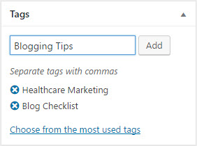 Blog Post Tags