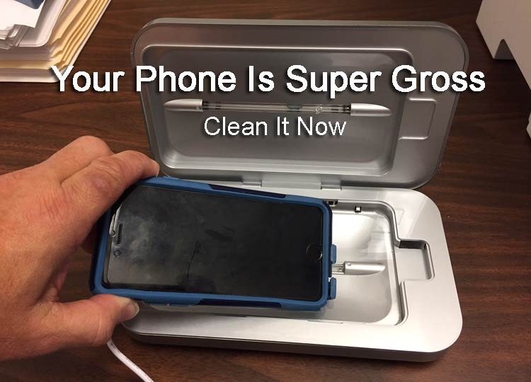 Cleaning a Cell Phone with UV Light